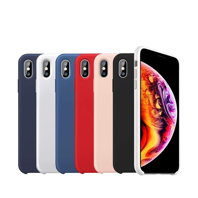 liquid silicone phone <strong>case</strong> for iphone xs max mobile phone accessories