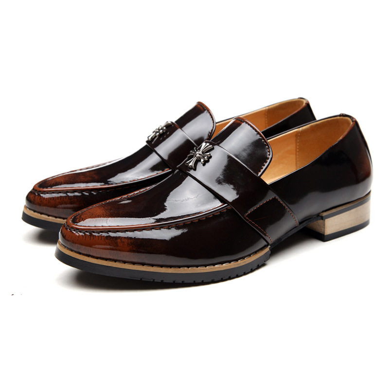Hot sale flats men oxford shoes genuine leather flat shoes brand men leather shoes italian slip on wedding dress shoes