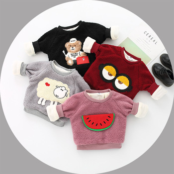 FS0167A 2018 baby winter clothes boys and girls cute carton sweatshirts