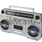 Trinovae Retro boombox cassette Player with stereo Built-In Speakers