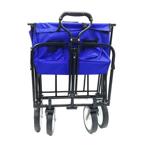 Collapsible Folding Garden fabric Hand Trolley Easy Set Up Four Wheel Outdoor Folding Wagon trolley