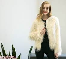 Gorgeous Fluffy Faux Fur Coat Women Warm Long Sleeve Female Outerwear Autumn Winter Fur Coat Bomber Jacket Hairy Overcoat
