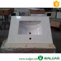 china wholesale white cultured marble vanity tops