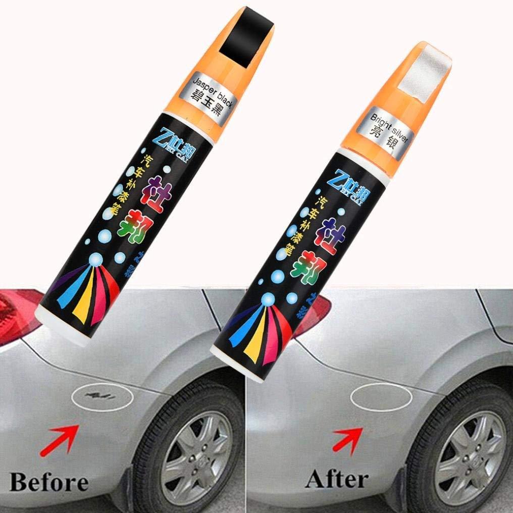 Ecosin Scratches Repair Pen Car Clear Repair Remover Tool Silver Auto Car Coat Paint Pen Touch Up Scratch Repair (A)
