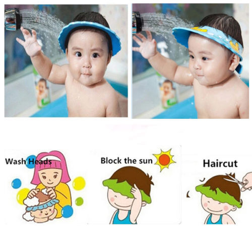 e5a5513d6bb 1 x Adjustable Baby Hats Toddler Kids Shampoo Bathing Shower Cap Wash Hair  Shield Direct Visor Caps For Children Baby Care