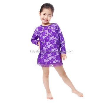 Purple modern children girls party dress wholesale buy girls dress