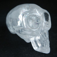 100% Amazing BeautifulNatural Clear Quartz Rock Carved Alien Skull