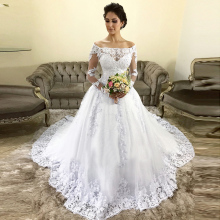 05d6b34ee818 Add to Favorites. FA128 Vestido De Casamento Wedding Dresses 2019 Off The  Shoulder Wedding ...