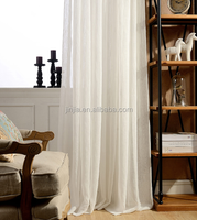 On sales European style polyester bright silk sheer curtain fabric for curtains