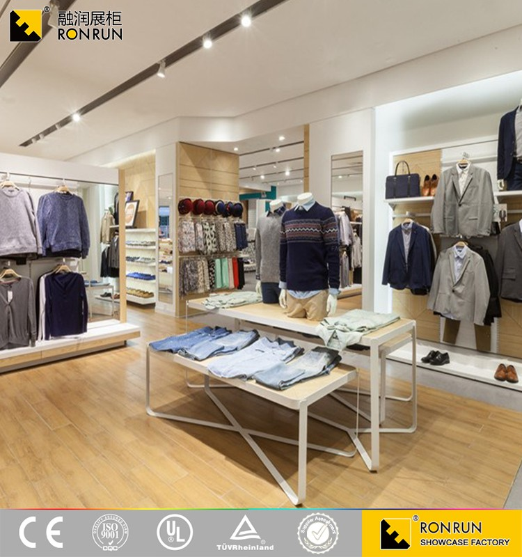 2016 Newest Style Fashion Shop Counter Design for Man Clothes