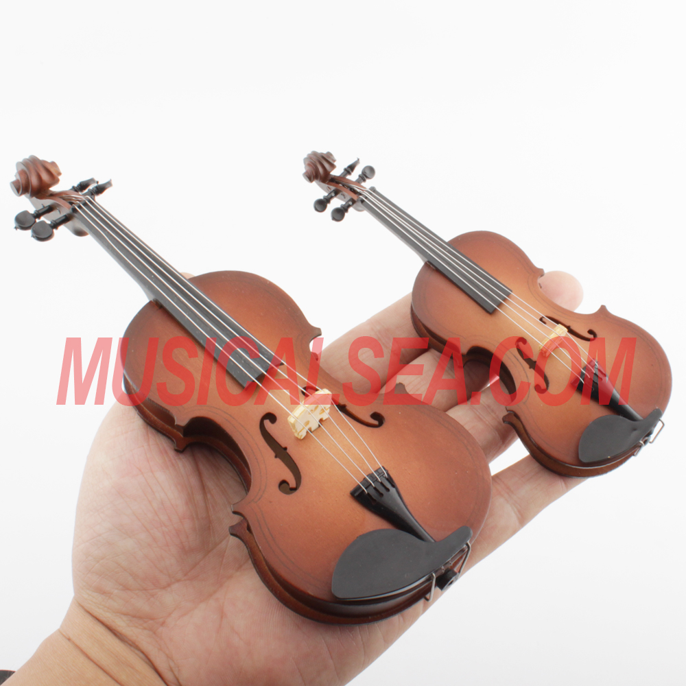 mini violin / miniature violin music theme decoration musical instrument handmade <strong>craft</strong> for christmas ornament