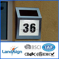 Energy saving high brightness 4*white led solar powered house number address numbers lighted