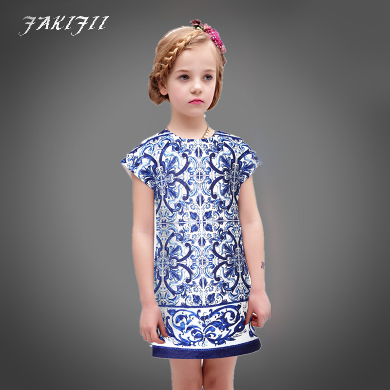 new style hot Girls Dresses Summer 2016 Brand Baby Girl Clothes Kids Dresses for Girls Princess
