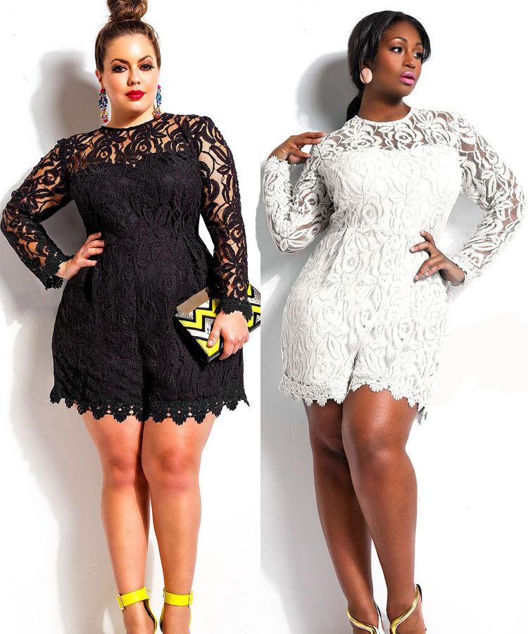 de412be48e4 Fashion-Plus-Size-Women-Sexy-Lace-Clubwear-Playsuit-Jumpsuit -Romper-Black-Color.jpg 1000