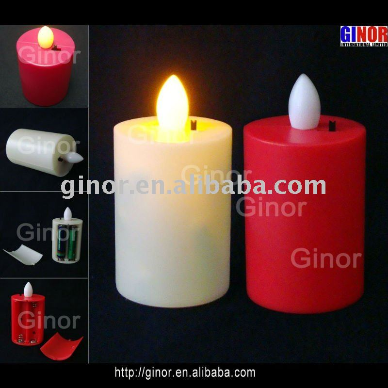 Different colors/lights LED candle