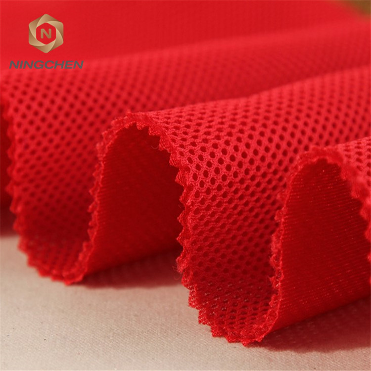 polyester warp knitted black sandwich spacer 3 D air mesh fabric/Plastic Breathable Sandwich mesh fabric