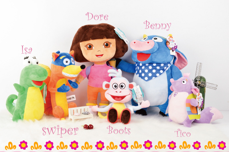 Dora The Explorer Stuffed Boots Benny Isa Tico Swiper Plush Toy - Buy Dora  The Explorer,Dora Plush,Best Selling Toy Doll For Children Product on