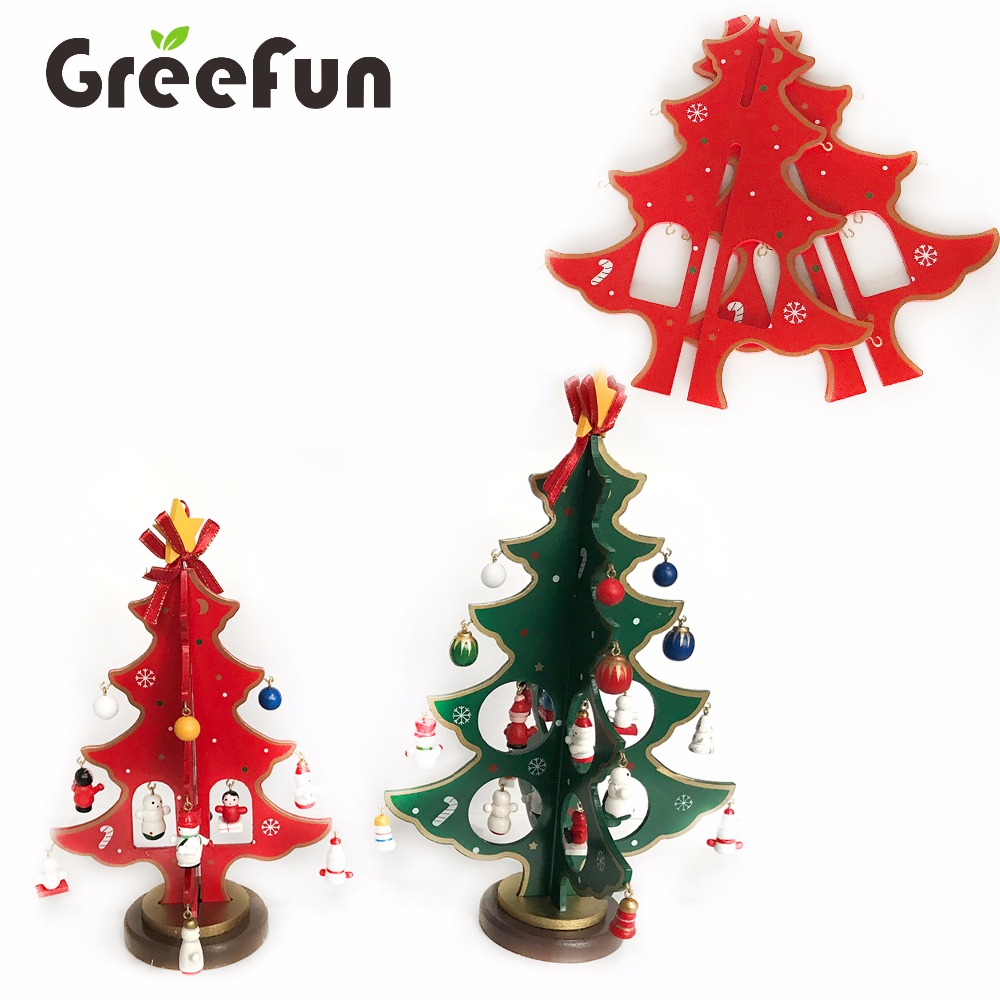 Hot Selling Yiwu Christmas Decoration Wooden Christmas Tree for Kids High Quality Gifts Christmas Item Supplier
