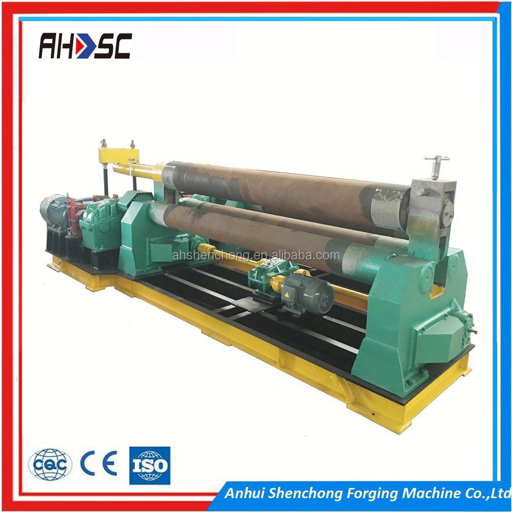 AHASC Product for aviation, W11S-16x2500mm metal sheet 4 roller bending machine , 4 roller rolling machine
