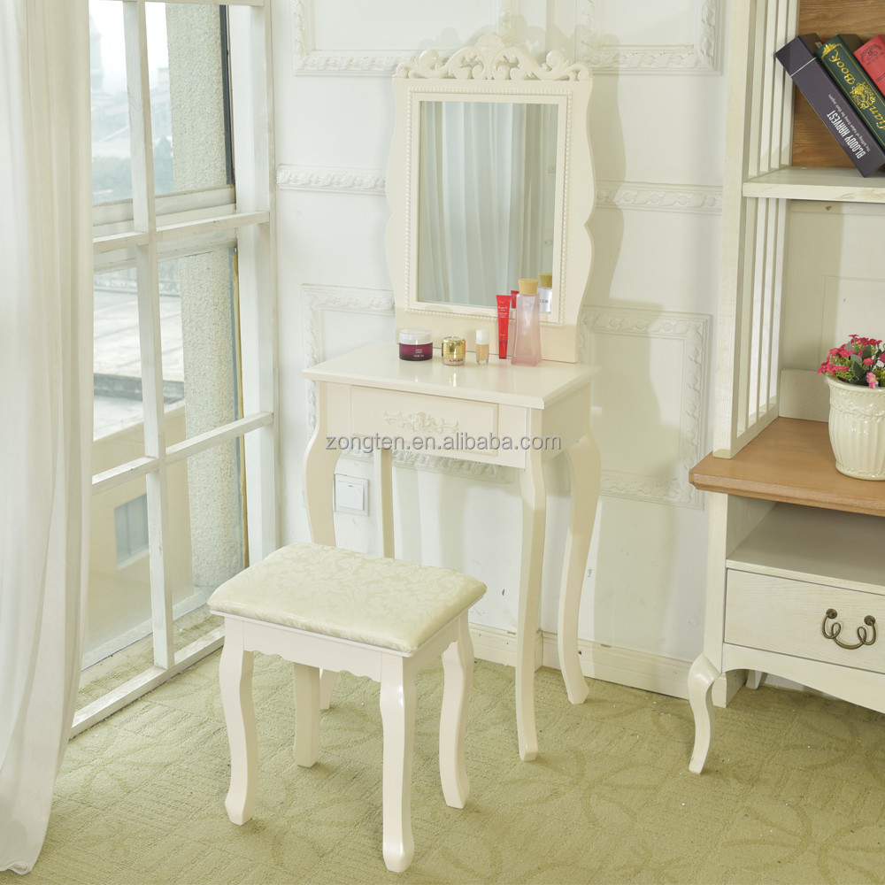 D1706 Modern Bedroom Vanity Table Desktop Mirror Wooden Dressing Table Mdf  French Girl Dressing Table - Buy Girl Dressing Table,Mdf Dressing ...