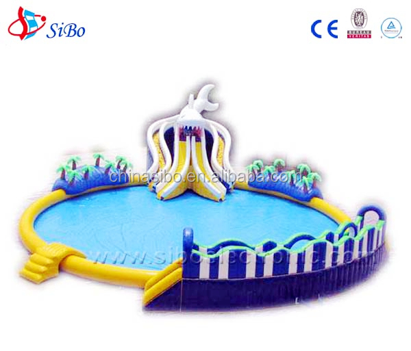 IW0028 SiBo New design water games Big inflatable water slide used swimming pool slide for sale