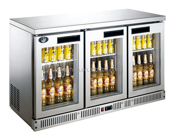 Double Sliding Doors Commercial High Quality Supermarket Beverage Showcase Refrigerator Bf14c2 Gl