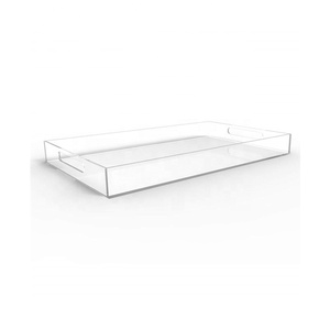 High quality RECTANGLE acrylic food serving tray TRAY09