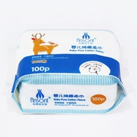 OEM 100 PCs Baby Cotton Dry Wet Wipe