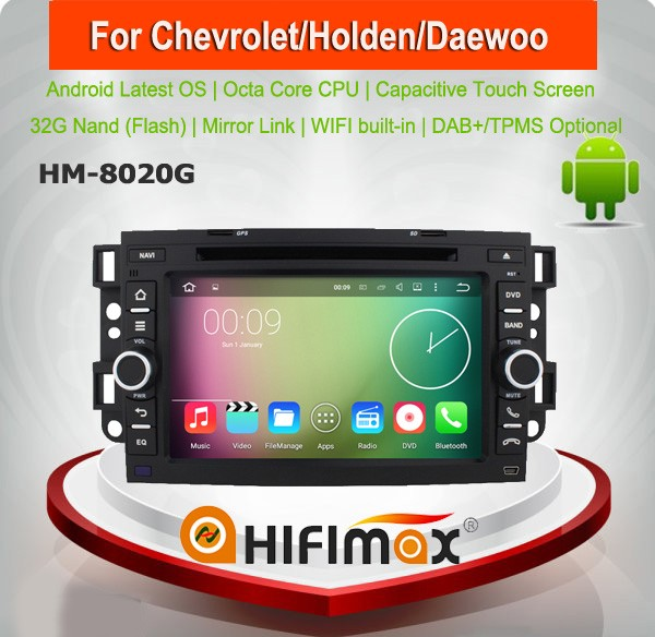 HIFIMAX 7'' Android 6.0 Capacitive multi touch screen car dvd for Chevrolet Holden Epica with radio bluetooth dvd