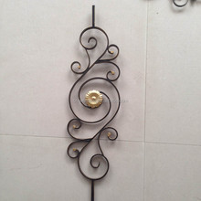 Danmark iron staircase railing parts wrought iron baluster contact home decoration