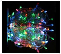 Tenda di cristallo fata luce tenda luci led dj 220 v di natale appeso fata