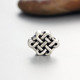 Fashion jewelry 925 sterling silver Chinese knot charm beads for bracelet/necklace