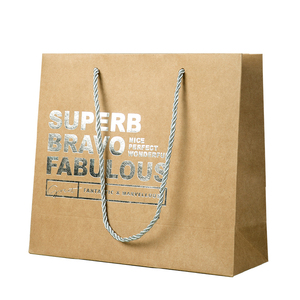 Custom size sliver stamping luxury shopping paper bag