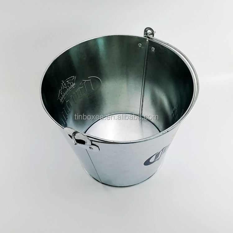 Round 5L /10L Target Challenge Bar Tool Beer Wine Champagne Galvanized Iron Metal Ice Bucket With Bottle Opener
