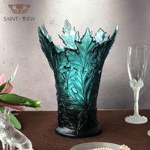 Lalique ELYSEE Französisch Stil Farbige Kristall Home Decor Maple Leaf Dubai Vase