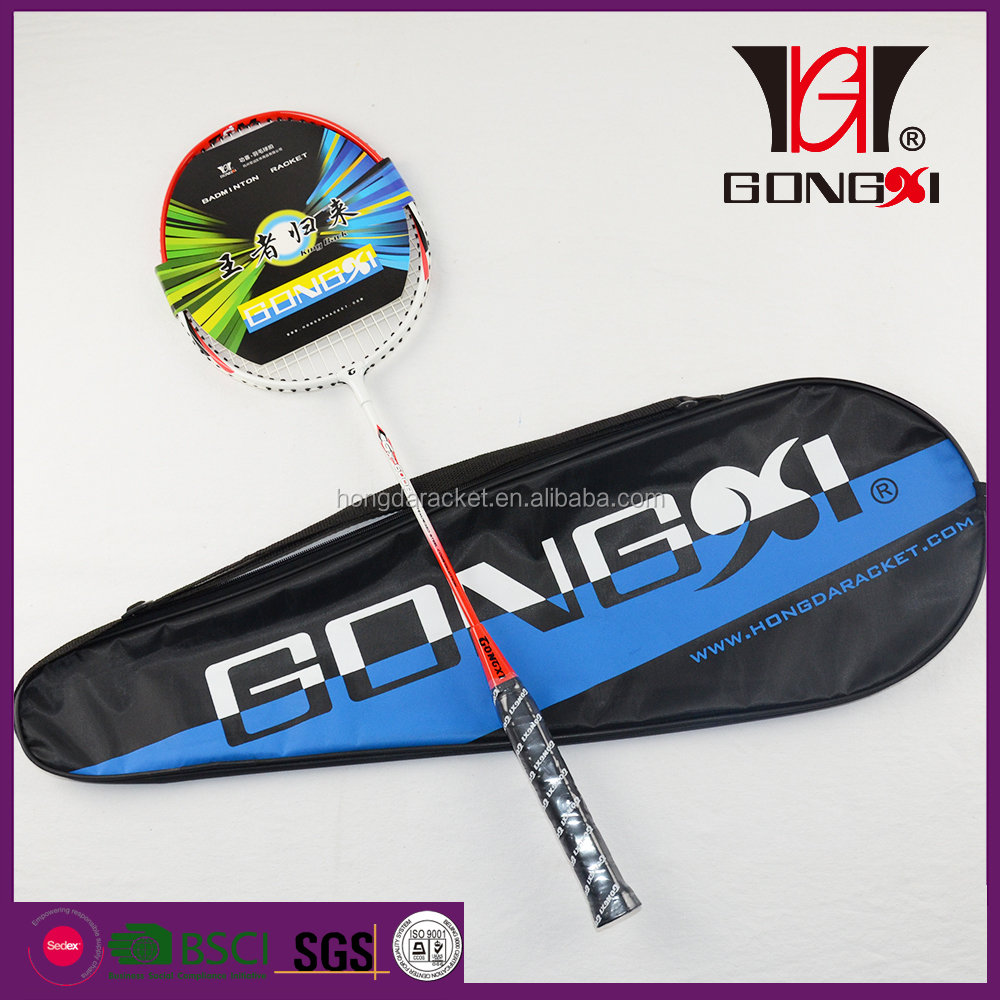 GX-6008 RED cheap price best badminton racket 2016/custom printed badminton racket/badminton gifts