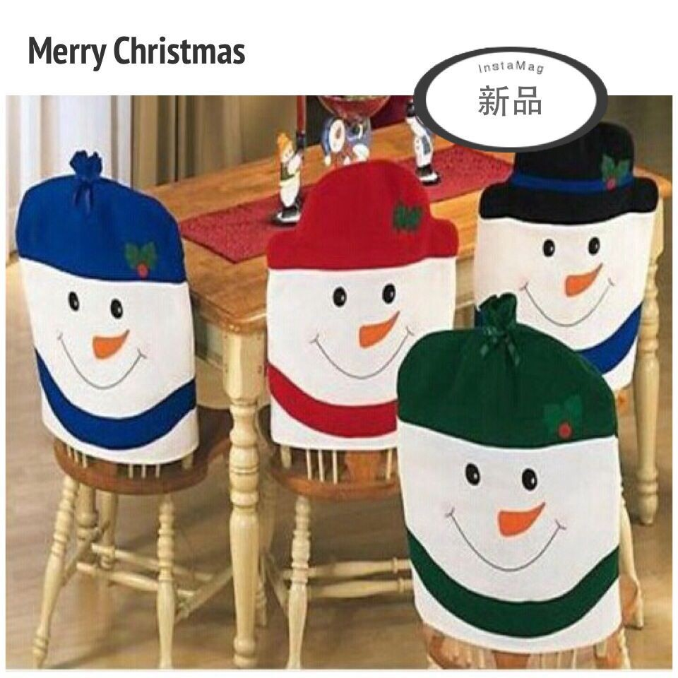 Christmas snowman family group chair covers essential practical gifts home Christmas decoration Color random mix shipping
