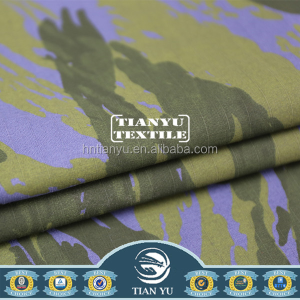 Military Uniform Ocean Camouflage Printed Ripstop Fabric