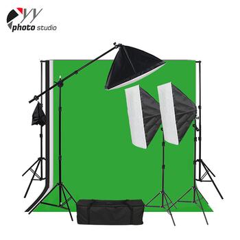Fotografi 10x12 Hitam Putih Hijau Muslin Background Photo Studio