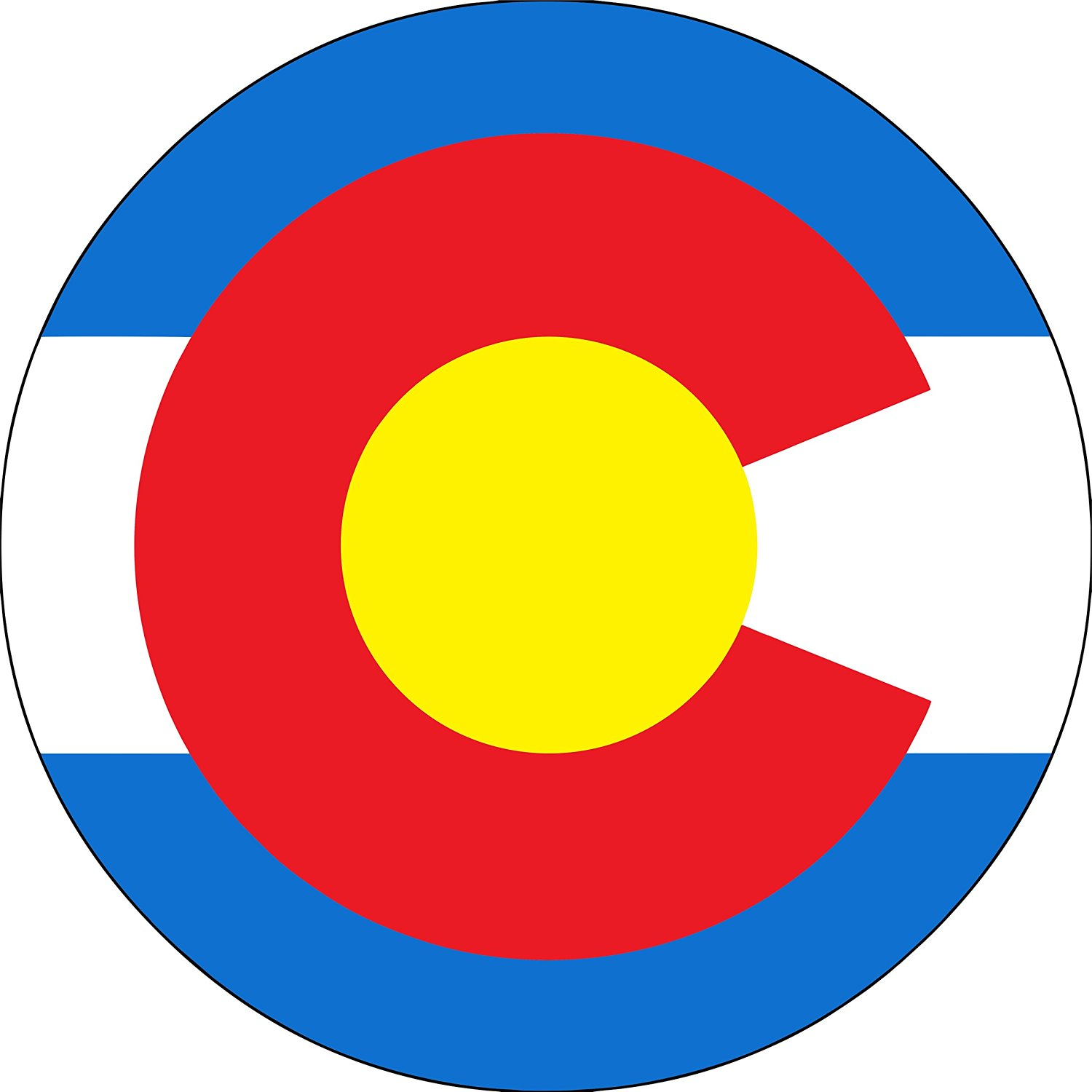 Colorado Flag Spare Tire Cover for Jeep RV and more (Select from popular sizes in drop down menu or contact us-ALL SIZES AVAILABLE)