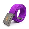 solid purple high end polyester woman man fabric belt