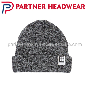 wholesale high quality custom funny beanie/flexfit wool knitted blank beanie hat with custom woven label winter warm hat