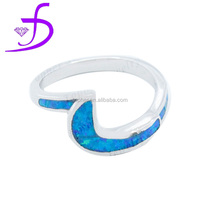 European style opal Couple ring wholesale 925 sterling silver opal rings