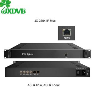 Dual DVB ASI TS Stream to IP Signals Mux Gateway