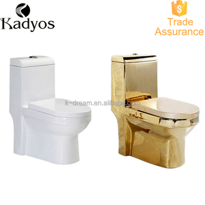 Sanitary Bathroom One Piece gold plated Toilet KD-03GP1