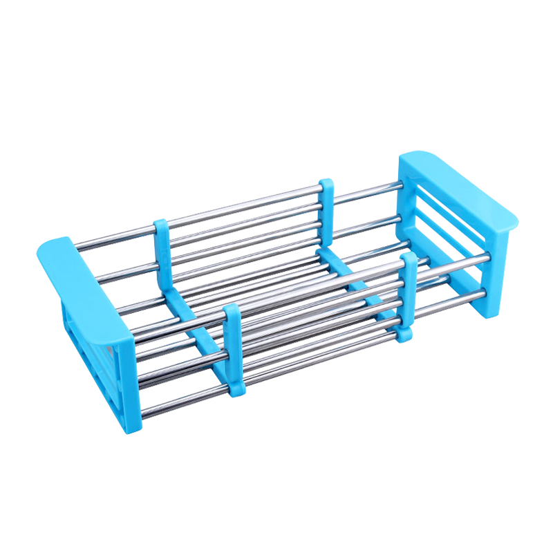 Stainless Steel+PP Telescopic Sink Display Dish Rack