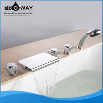 Proway Whirlpool Massage Bath Mixer Bathtub Parts Tap Set Shower