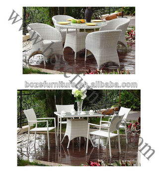 White outdoor dining set white wicker furniture buy for White wicker outdoor furniture