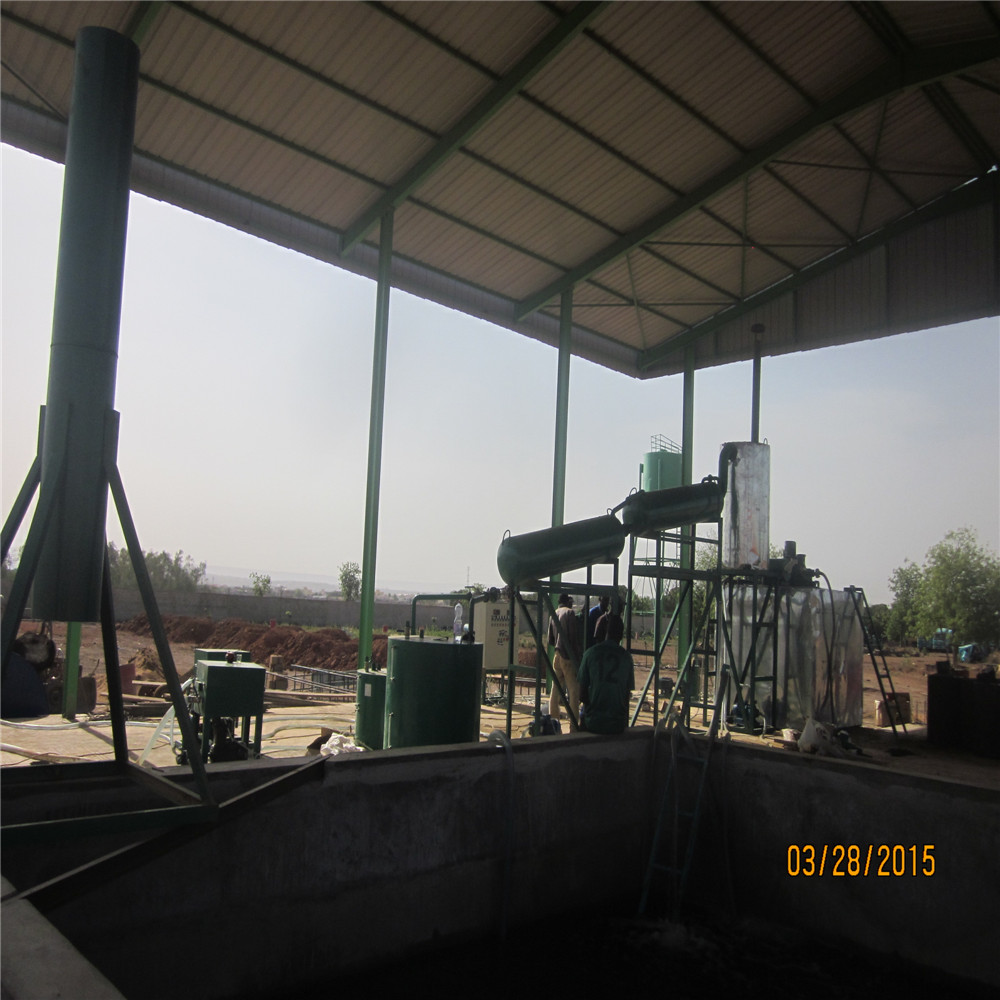 Engine oil recycling oil regeneration system to diesel fuel waste oil distillation plant