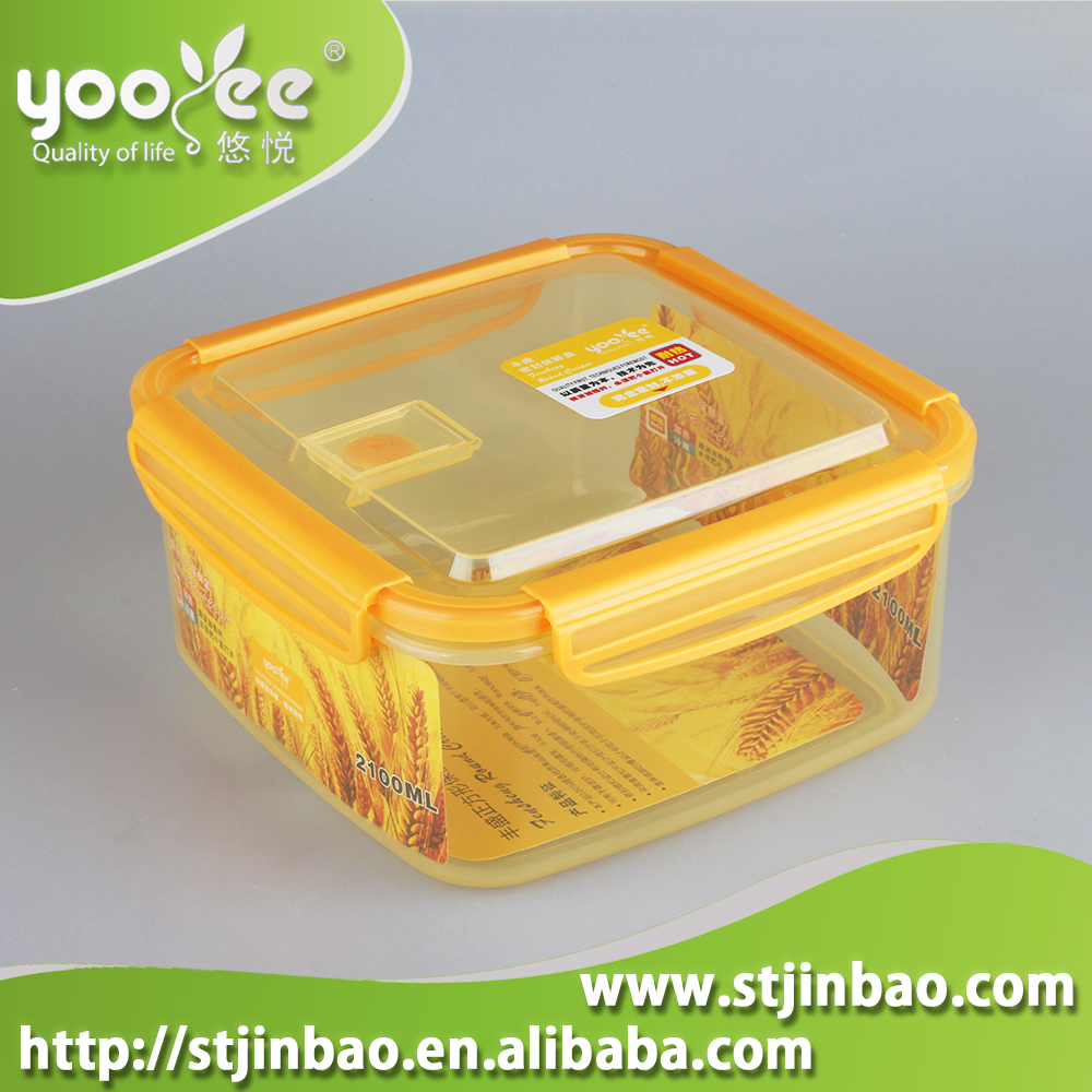 Magnetron siliconen vierkante plastic voedsel opslag containers met deksels vergrendeling - Thuis container verkoop ...
